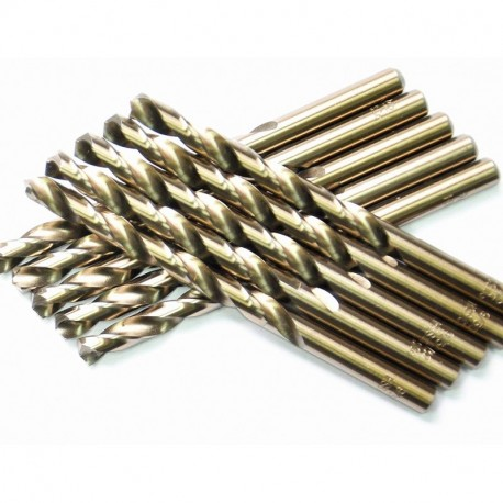 1/16 inch to 1/2 inch, HSS Cobalt Twist Drill Bits, Pack of 10, Please Choose the Size you Want.
