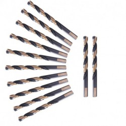 1/16 inch to 1/2 inch, HSS M2 Black and Gold Twist Drill Bits, 12 Pcs in a Plastic Bag, 3-Flat Shank