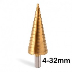 3PCS Step Drill Bits Set Metric Spiral Flute The Pagoda Shape Hole Cutter 4-12/20/32mm HSS Steel Cone Titanium Drill Bit Set